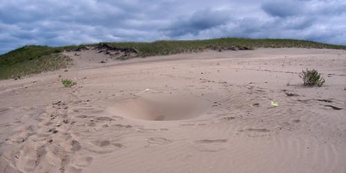 Indiana dunes sinkhole