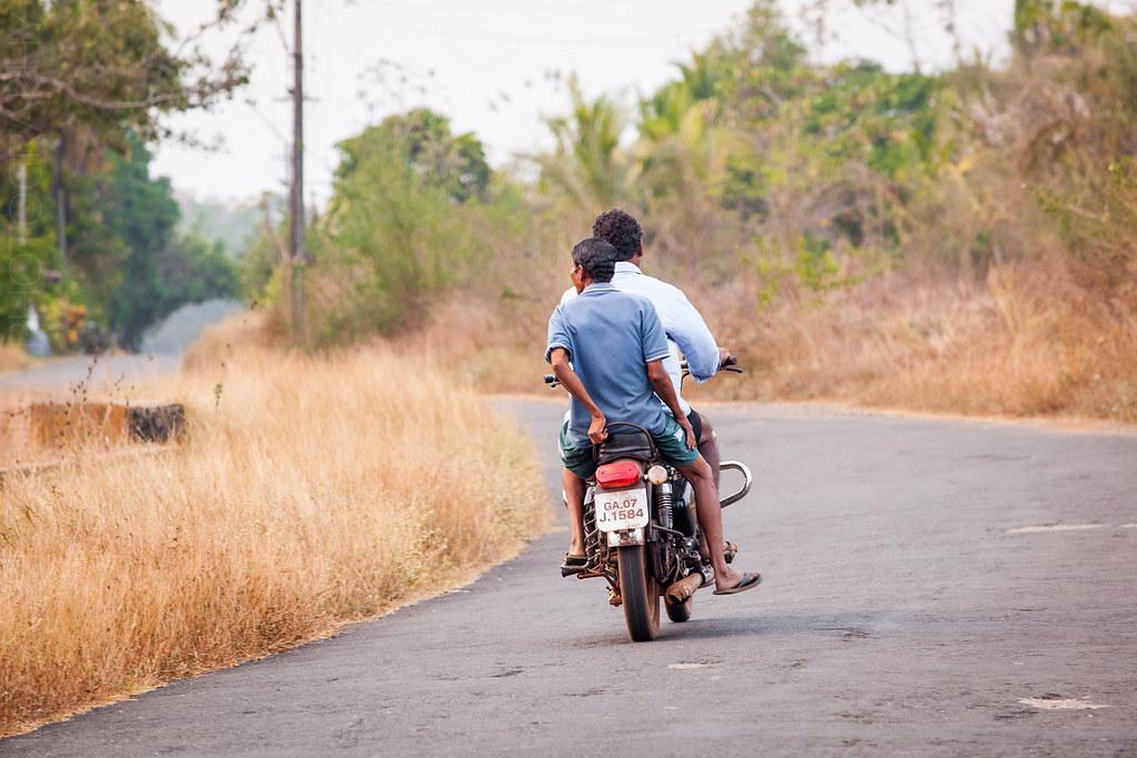 Divar locals on their bike