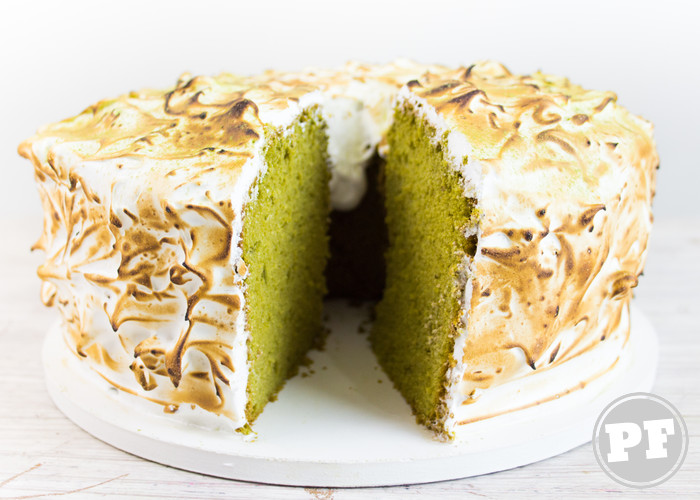 Chiffon Cake de Matcha com Merengue Suíço