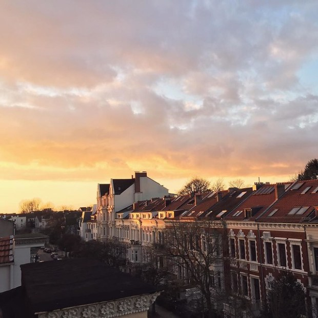Bremen welcomes me back after a long night and day of travel. #lovebremen