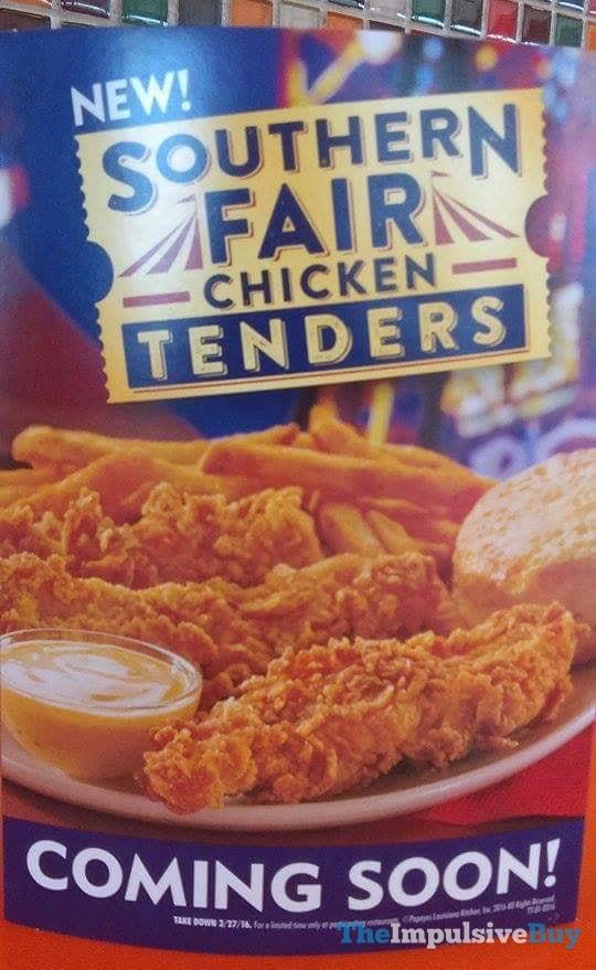 Popeyes Southern Fair Chicken Tenders