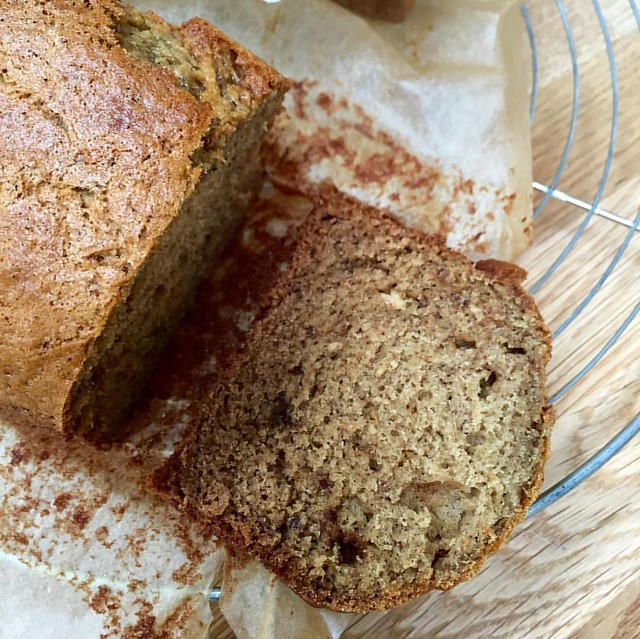 Banana bread. Hastily made in the Thermomix, not too sweet. Adapted from @smittenkitchen