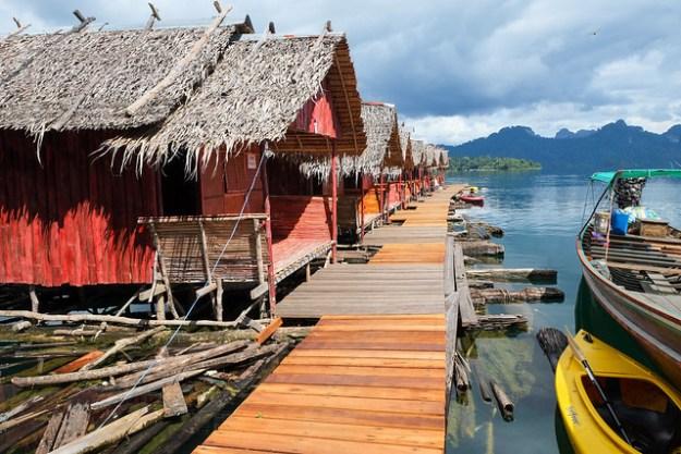 Boardwalk. Cheow Lan lake