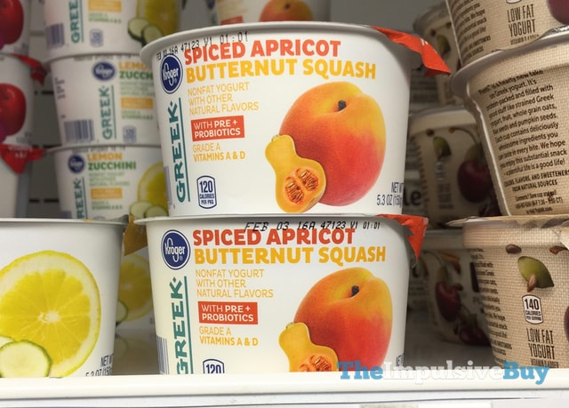 Kroger Spiced Apricot Butternut Squash Greek Yogurt