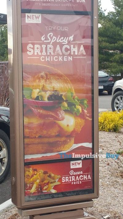 Wendy's Spicy Sriracha Chicken and Bacon Sriracha Fries