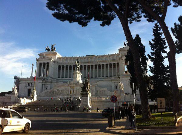 Italian courses in Rome : piazza Venezia