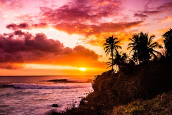 Sunset Waimea Bay Oahu Hawaii