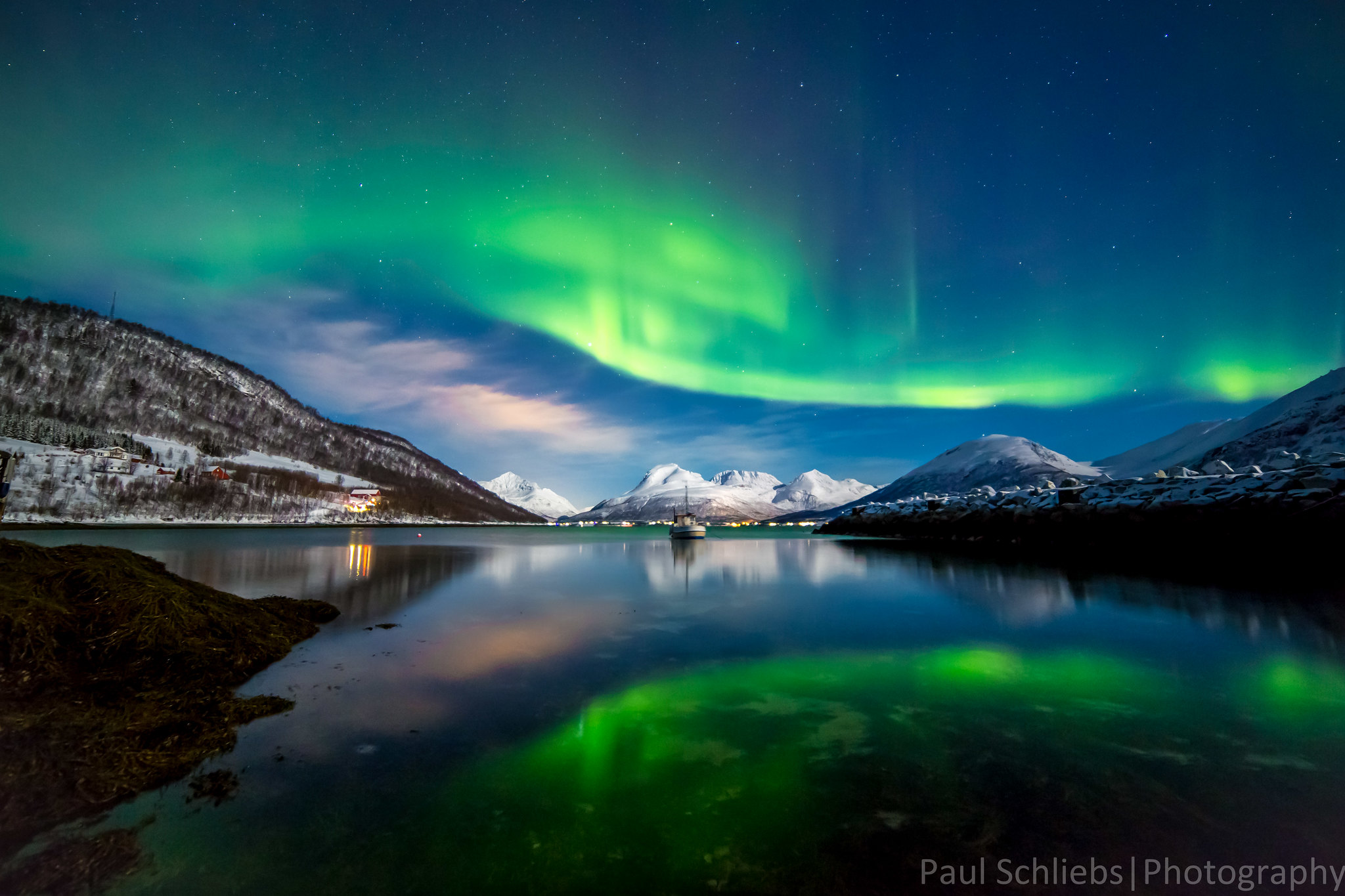 3d Wallpaper Live Wallpaper Northern Lights Over The Fjords Near Tromso Norway
