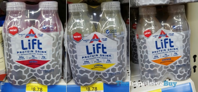 Atkins Lift Protein Drink (Berry, Lemon, and Orange)