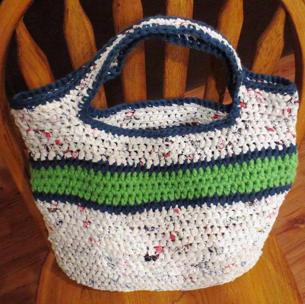 Seahawks inspired recycled bag