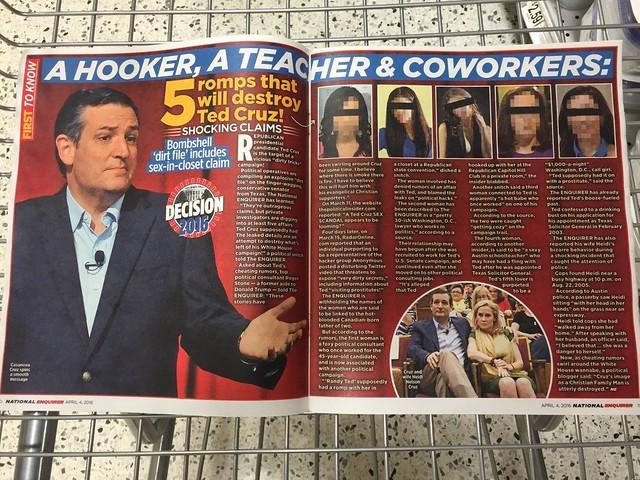 Ted Cruz - National Enquirer