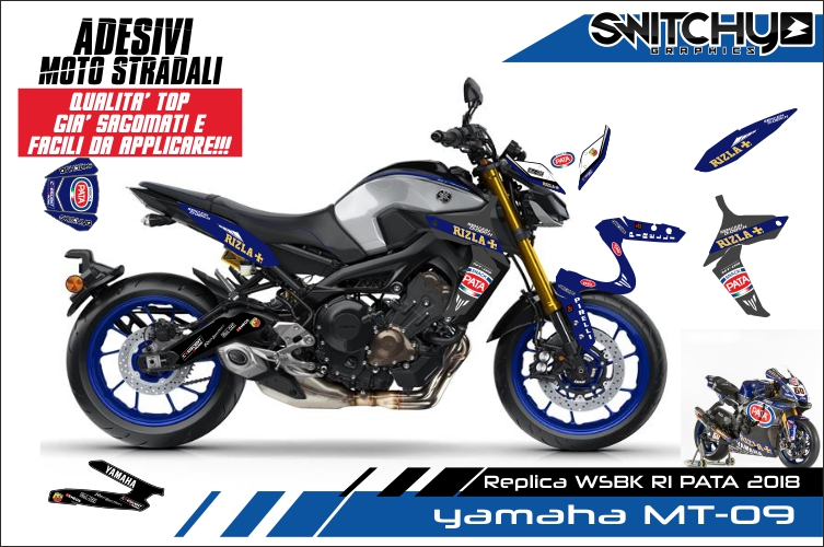 Adesivi Stickers kit replica TEAM PATA YAMAHA MT-09 MT09 2017-2018