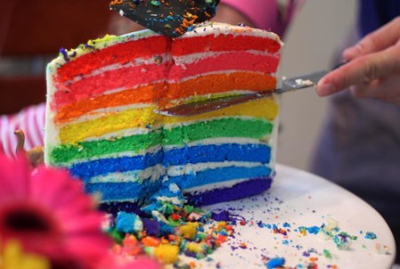 DC's rainbow cake slice