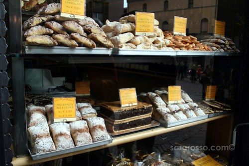 More fresh pastries in Bergamo Alta, Italy