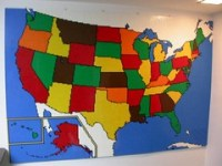 LEGO USA map mosaic