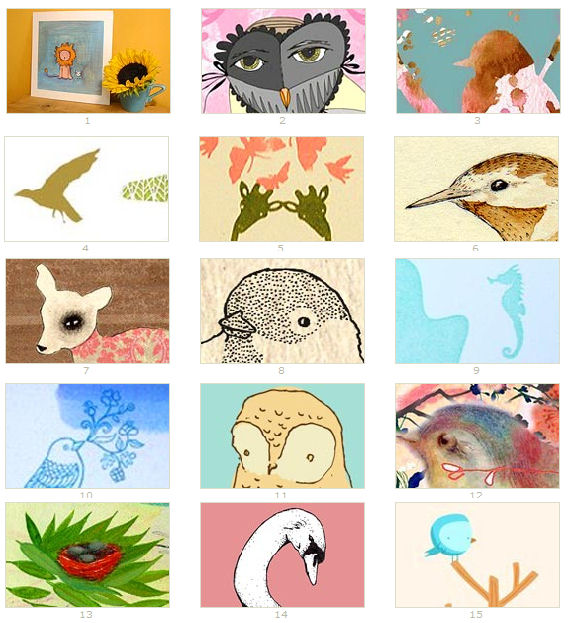 Domino: Animals Prints on Etsy