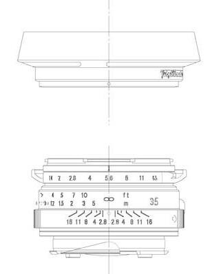35/1.4 Nokton Classic diagram