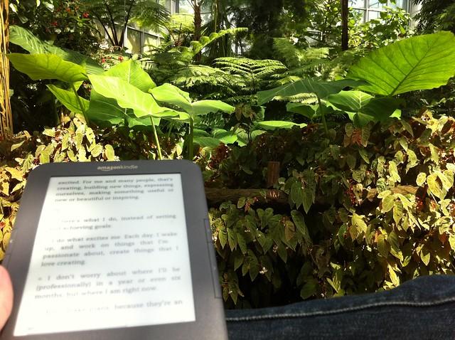 Entspannt lesen im Palmengarten Frankfurt