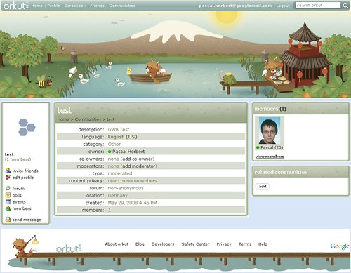 orkut theme -Theme 10 - Tea House