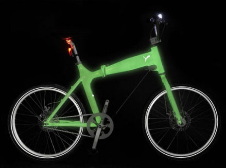 Glow in the dark Puma Urban Mobility bicycle
