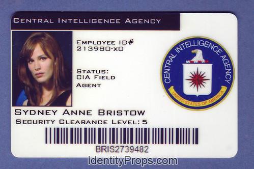 CIA Central intelligence agency sydney anne bristol ID card by - id card