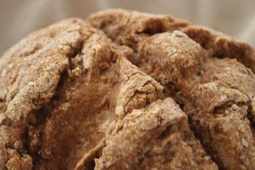 whole wheat bran glob of bread