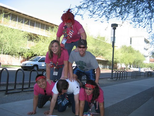 Urban Dare: Score 5 extra minutes for getting volunteers to pyramid!