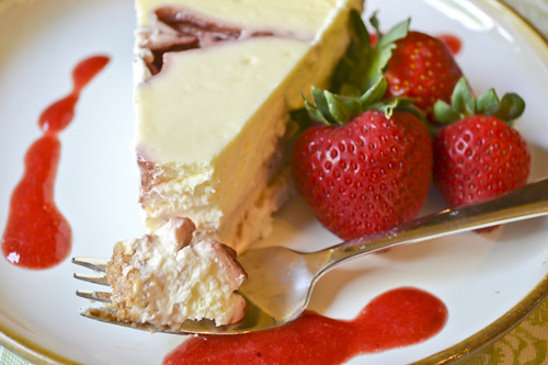 Strawberry Swirl Cheesecake