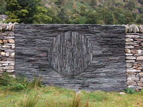 Going Up by RoystonVasey. andy goldsworthy stone wall