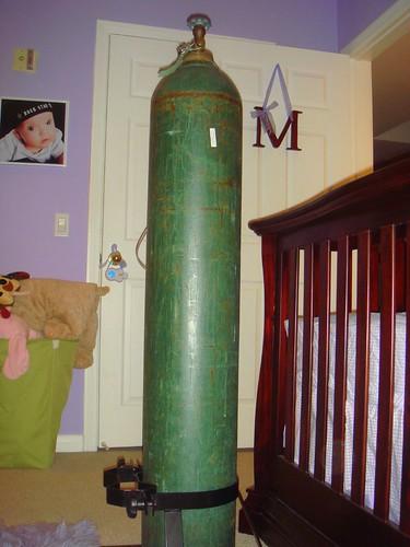 Maddie's oxygen tank