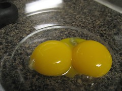 two egg yolks