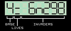 My Casio Calculator Invader Game (2/3)