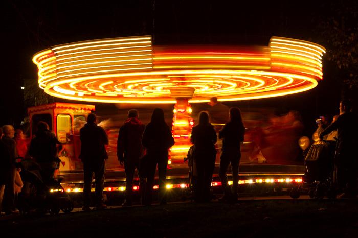 Whirling around and around