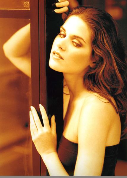 Lisa Bettany modeling Richard Dubois