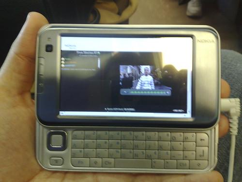 Nokia virtual event streaming via 3G to the N810!
