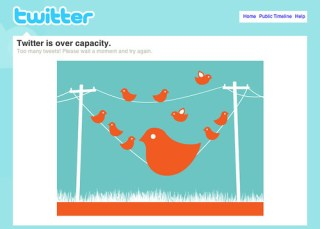 Design for Twitters over capacity screen by Mykl Roventine