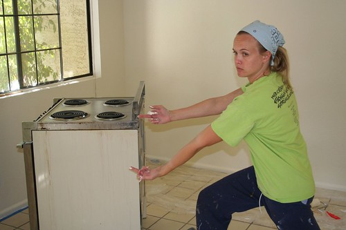 amanda saying adios to old stove