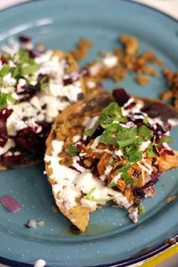 half-eaten taco
