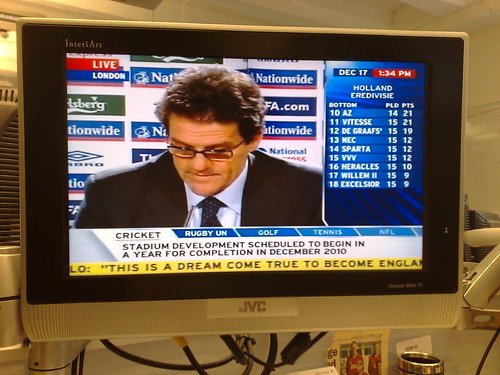 Capello on TV