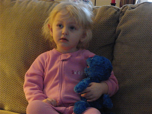 A girl and her Grover