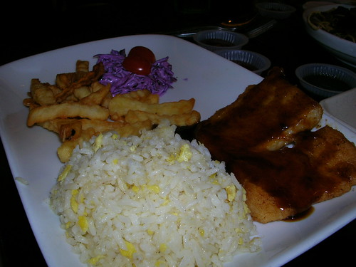 fish and chips with rice