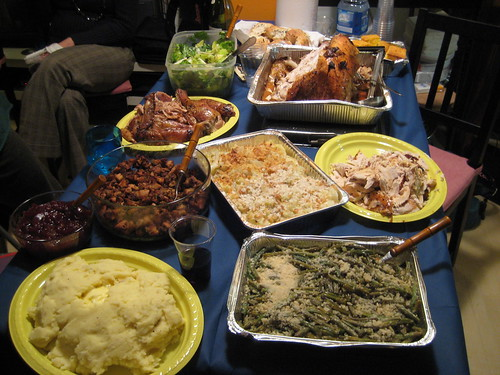 Thanksgiving in Italy - the Buffet