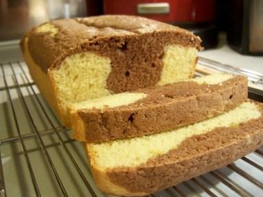Marble pound cake