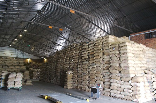 Parchment warehouse at Almacafe