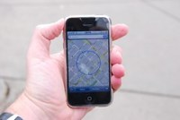 iPhone location test in downtown Denver