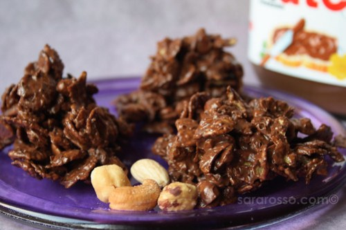 Nutella and Mixed Nut Cereal Clusters Recipe
