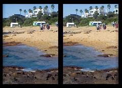 3D beach view