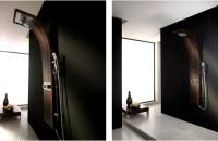 modern shower furniture: Luxury Wooden Shower