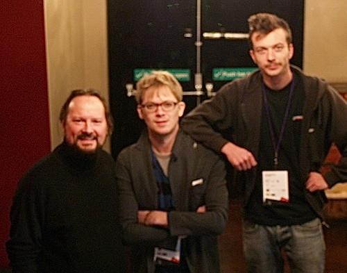 Documentary crew and subject