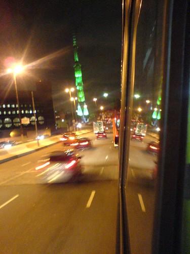 De dentro do ônibus